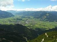 view to Saalfelden and Zell am See